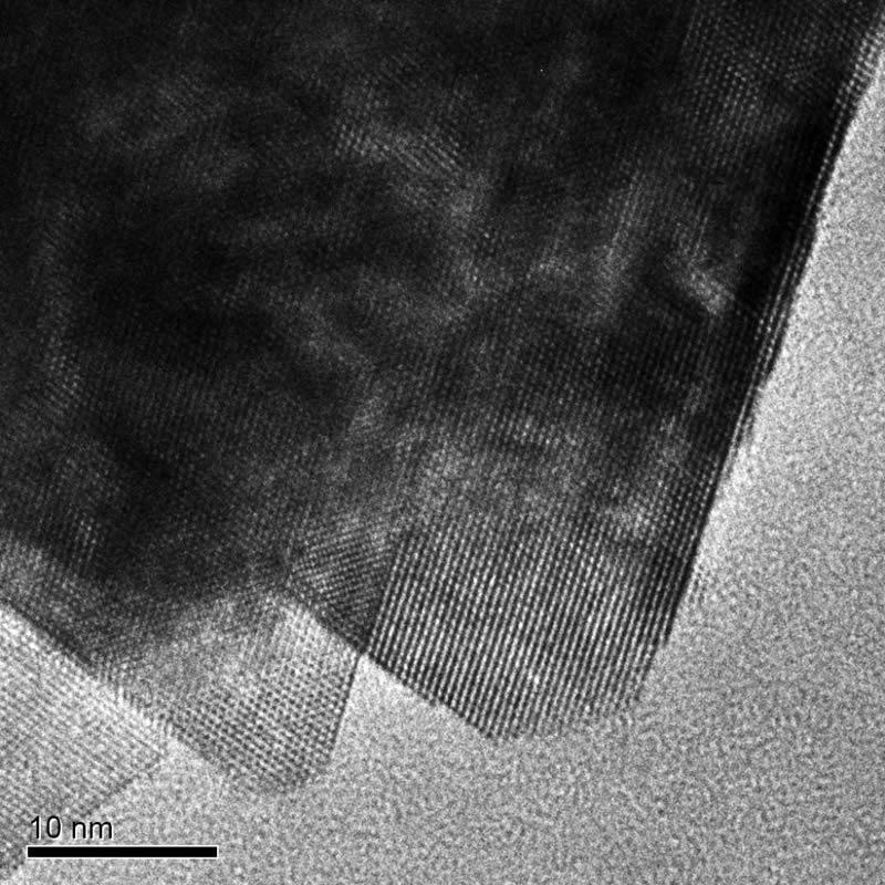 Взаимное ориентирование нанопластинок диоксида церия